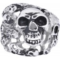 Steel Basicline® Skulls Ring