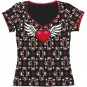 Wildkitty® Flying Heart Black Girl Shirt