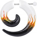 Acrylic White Flames Mirage Spiral