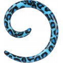 Acrylic Blue Leopard Spiral