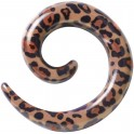 Acrylic Brown Leopard Spiral