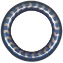 Steel Basicline® Blue Smooth Vertebrae Smooth Segment Ring