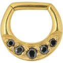 Steel Zirconline® Jewelled Hinged Septum Nosering