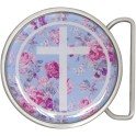 Wildcat® Rose Punch Cross Pink Roses Buckles
